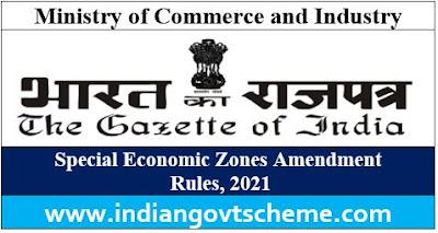 Special Economic Zones Amendment