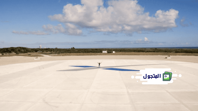 أول منصة هبوط صاروخية لشركة SpaceX