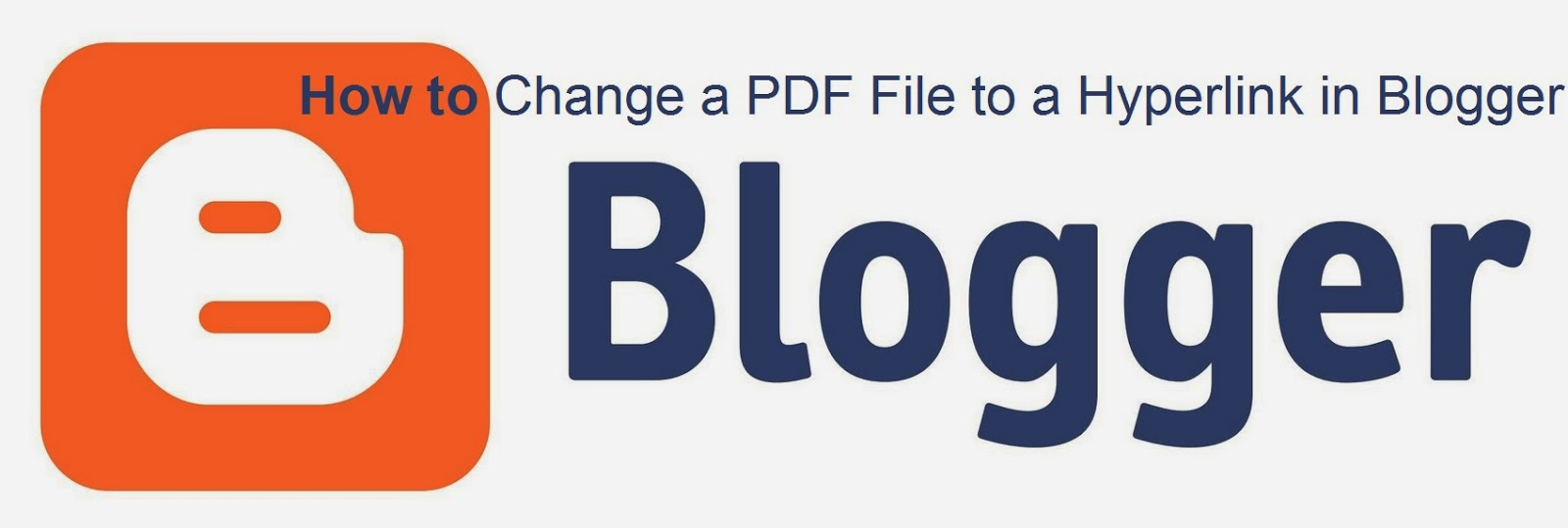 How to Change a PDF File to a Hyperlink in Blogger : eAskme