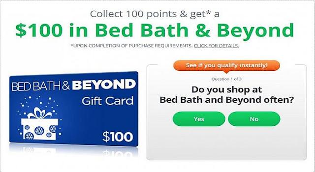 Win Free BED BATH & BEYOND $100