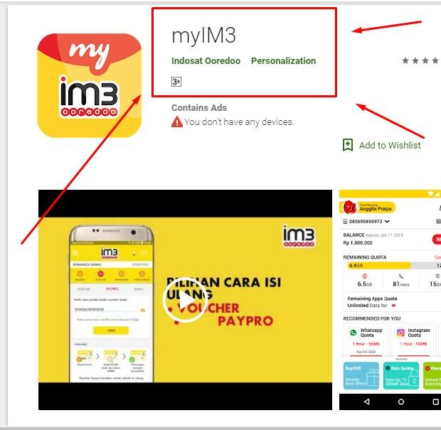 Cara Cek Pulsa Indosat Dengan Aplikasi myIM3 Terbaru 2019