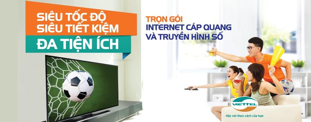 Dịch vụ trọn gói Internet cáp quang + Truyền hình Viettel cho hộ gia đình