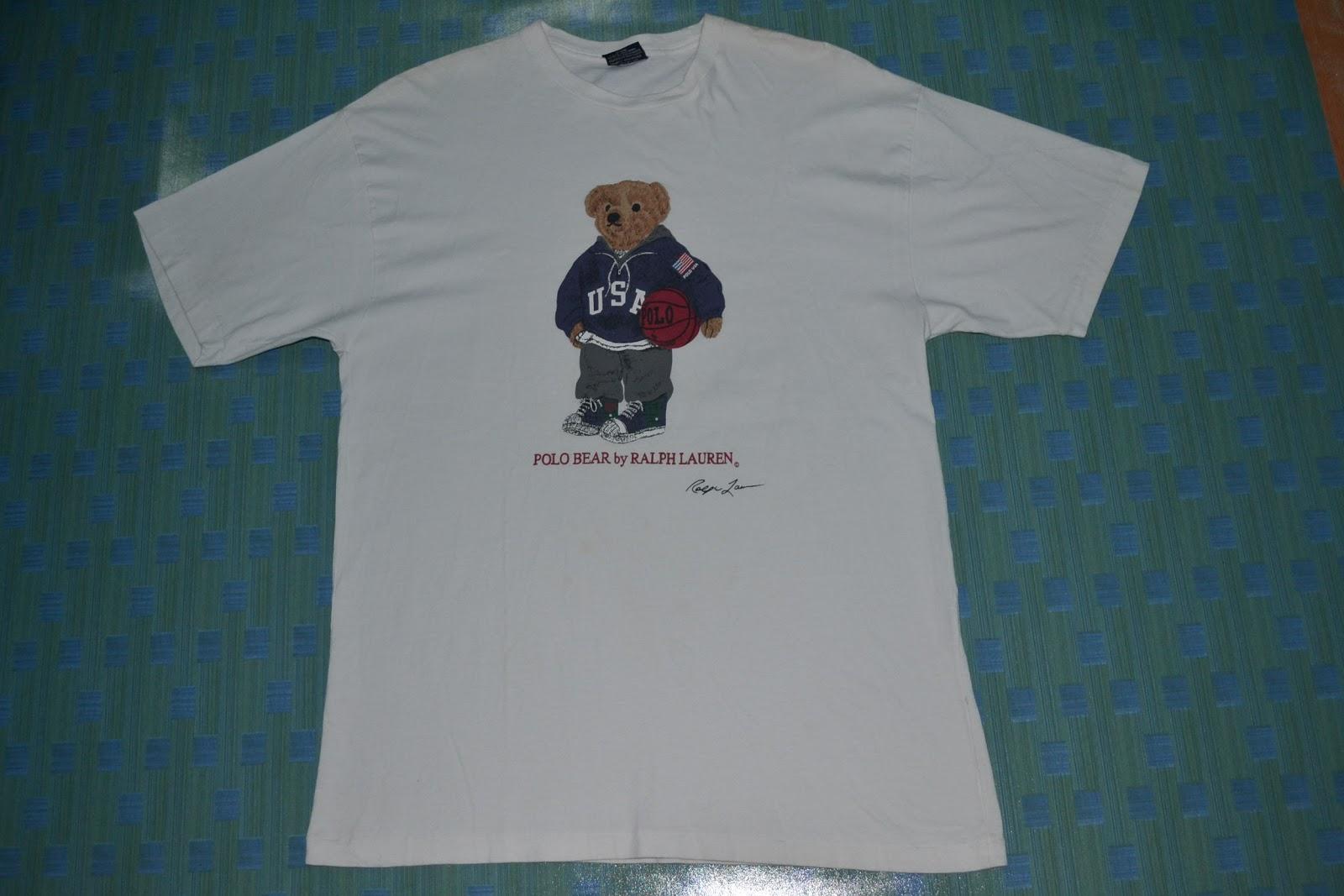 6ffe729df52 OldSchoolZone: Vintage 90s POLO SPORT By Ralph Lauren Bear T-shirt ...