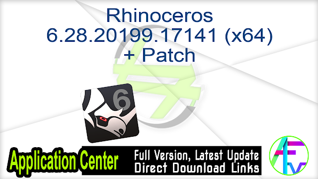 Rhinoceros 6.28.20199.17141 (x64) + Patch