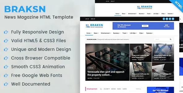 Best News Magazine HTML Template