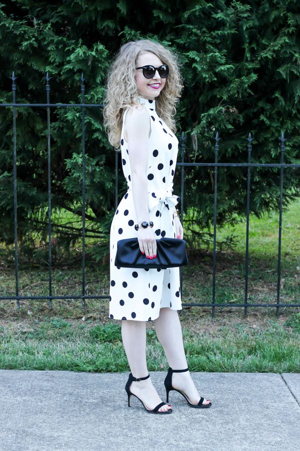 Belted Dot Dress