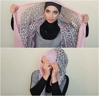 Tutorial Hijab Pashmina Perempuan Berkacamata