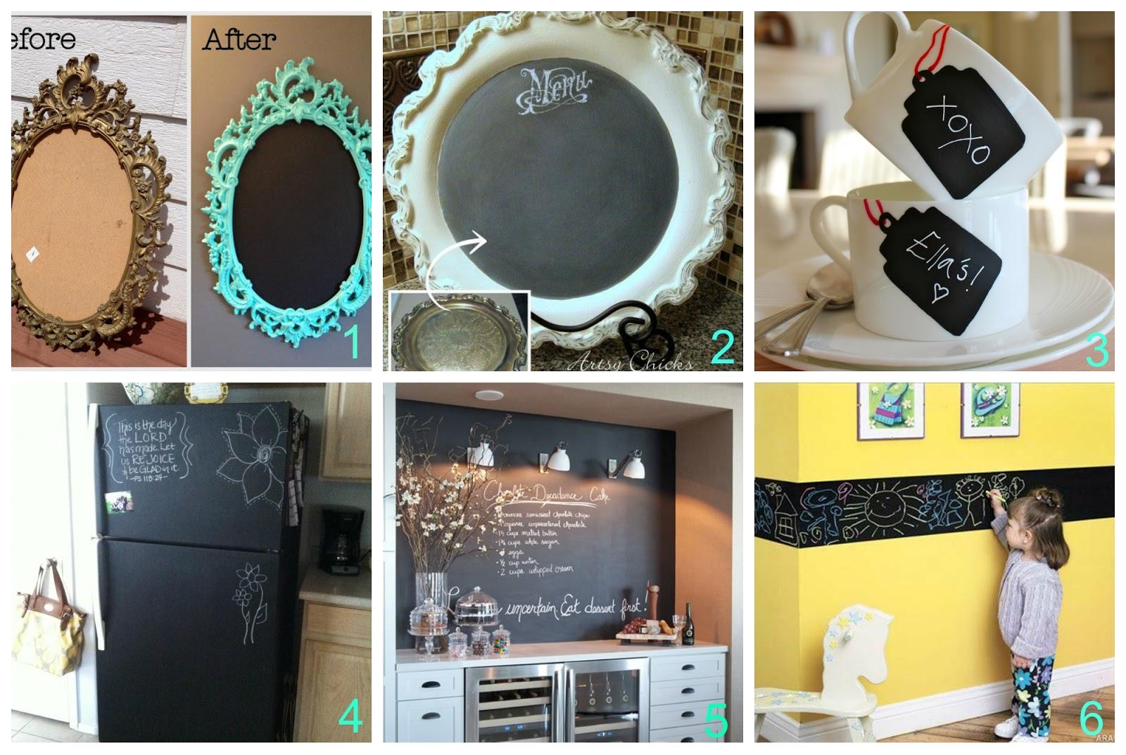 Fare Una Parete Di Lavagna : Creare e rinnovare con la pittura lavagna donneinpink magazine
