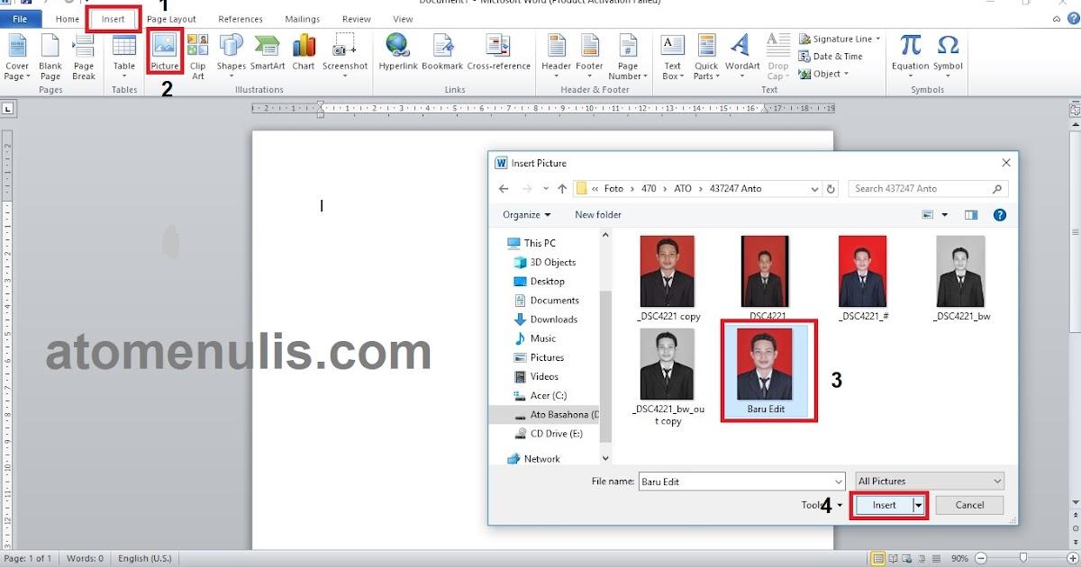 Cara Mengganti Warna Latar Pas Foto Menggunakan MS Word ...