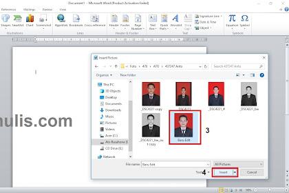 Cara Mengganti Warna Latar Pas Foto Menggunakan MS Word