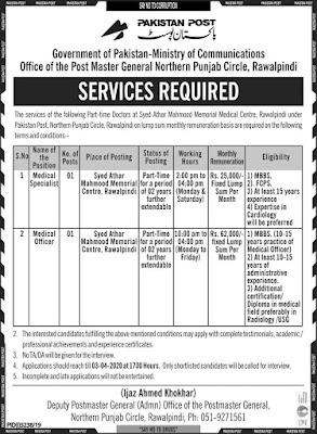 Pakistan POST Office Jobs 2020