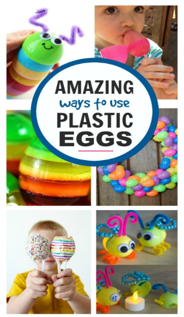 25+ fun & creative ways to use plastic Easter eggs.  Don't toss them or store them away; try these fun ideas instead! #plasticeastereggcrafts #plasticeggcrafts #plasticeastereggs #eastereggcraftsforkids #growingajeweledrose