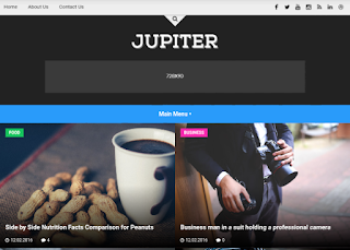 Jupiter Blogger Template Free Download |