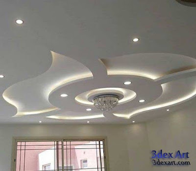 false ceiling designs for living room and hall 2018, ceiling designs 2018, ceiling lighting ideas, plasterboard ceiling