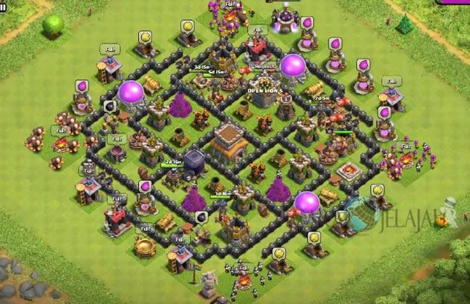 Base Trophy TH 8 di Clash Of Clans Terbaru Tipe 4