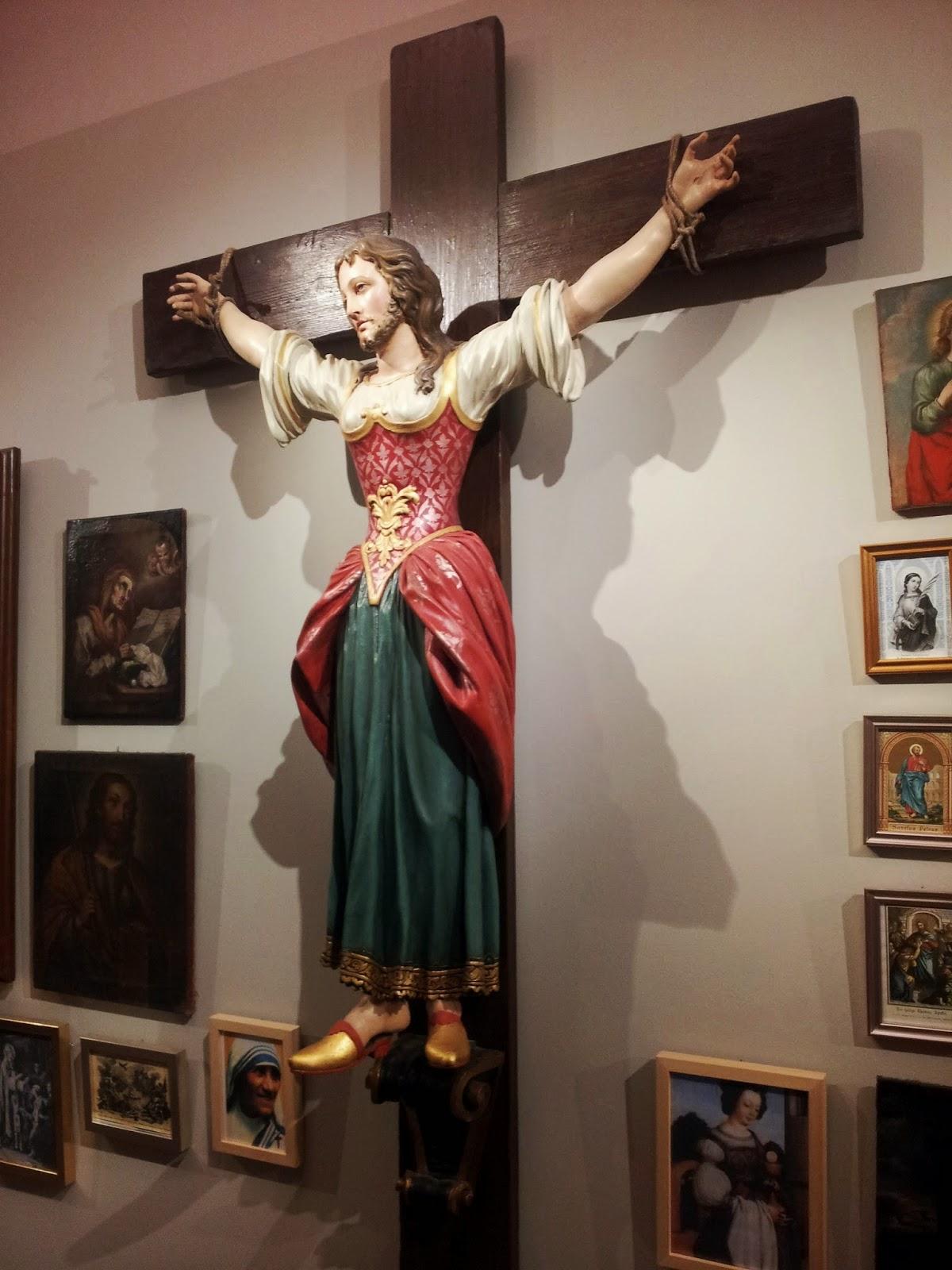 santa wilgefortis conchita wurst mujeres crucificadas