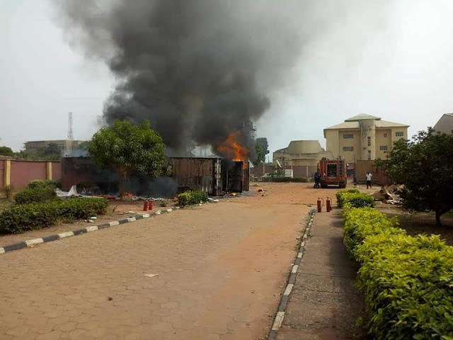 INEC Card Readers Gutted By Fire As Officials Flee