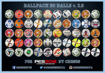 PES 2016 Ballpack 50 Balls v.2.0 by Cronos