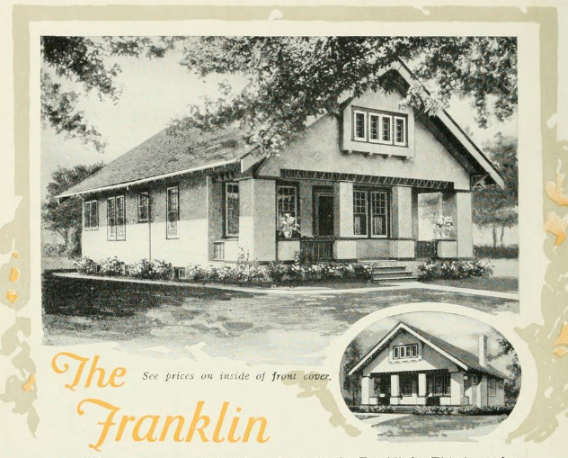 left side view of Aladdin Franklin model as shown in the catalog