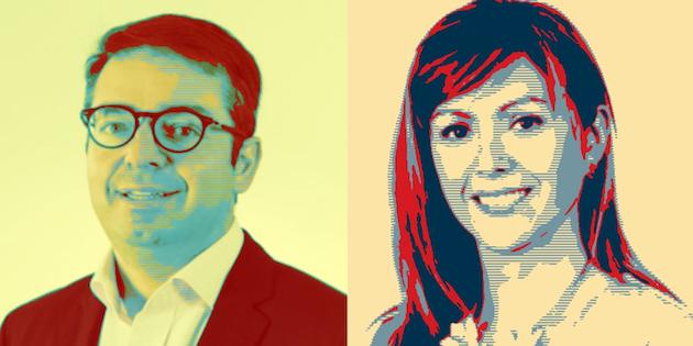 Diputados Gabriel Silber y Loreto Carvajal