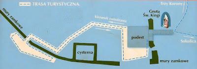 Mapa Zamku Pienińskiego