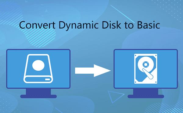 convert dynamic disk to basic