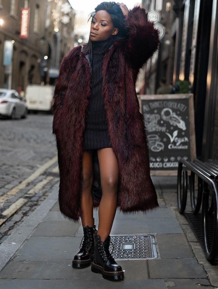 Faux fur coats for winter