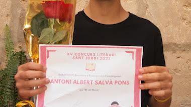 Guanyador Narrativa Batxiller: Antoni Albert Salvà Pons (1r Batx B)