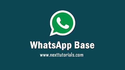Download WhatsApp Base v2.20.206.6 With Privacy Latest Version 2020, WA Base terbaru 2020, Aplikasi WhatsApp Mod Apk Update Fitur Terbaik Anti Blokir