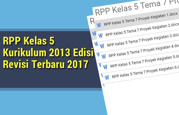 RPP Kelas 5 Kurikulum 2013 Edisi Revisi