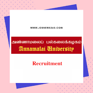 Annamalai University Recruitment 2019 for Research Assistant