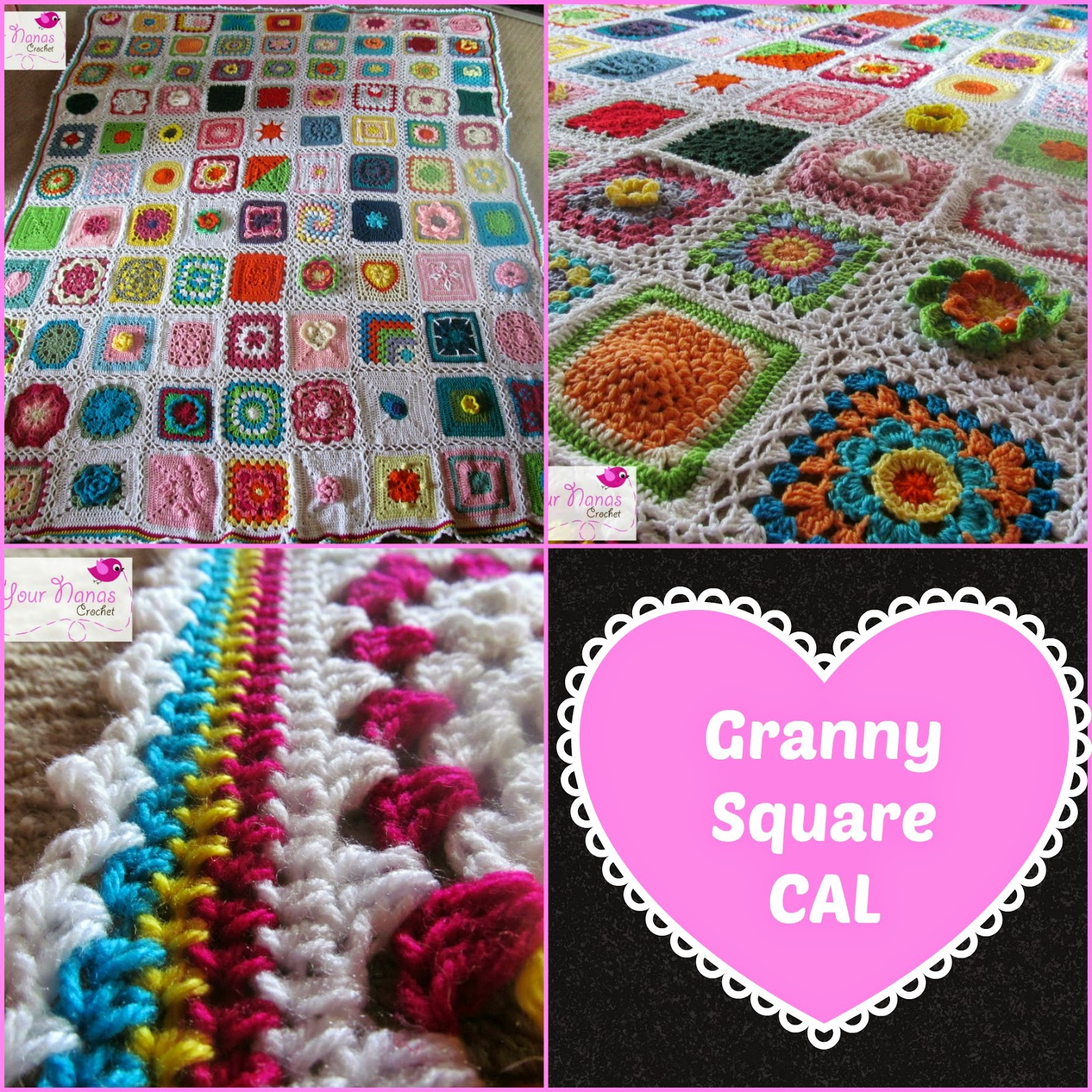 Knot Your Nana's Crochet: Granny Square Crochet Along