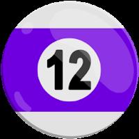 twelve of strips pool ball