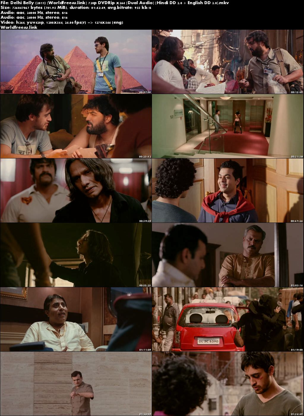 Screen Shoot of Delhi Belly 2011 Full Hindi Movie Download 720p Watch Online Dual Audio