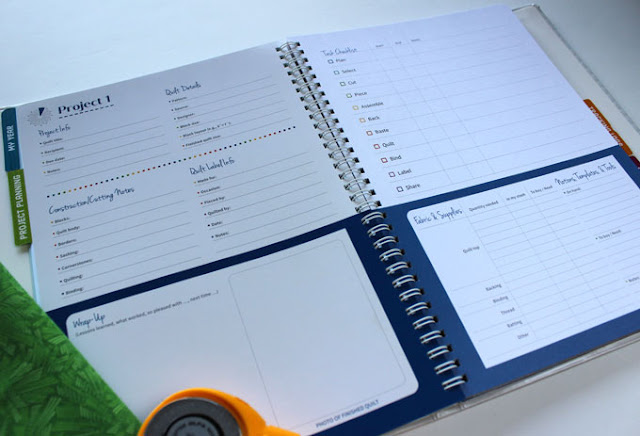 quilter's project planner book planning page