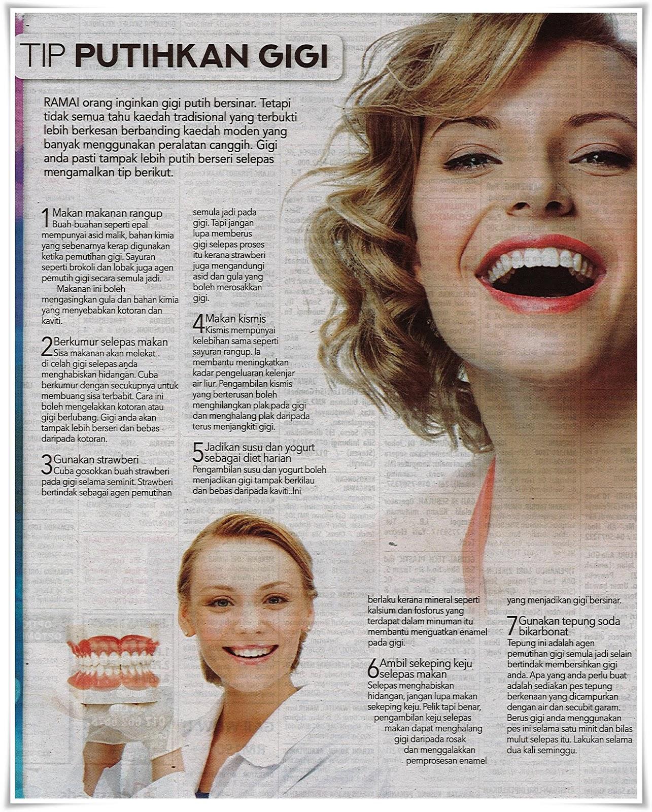 Tips putihkan gigi