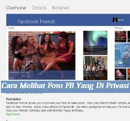 3 Cara Melihat Foto FB Yang Di Privasi Lewat Android