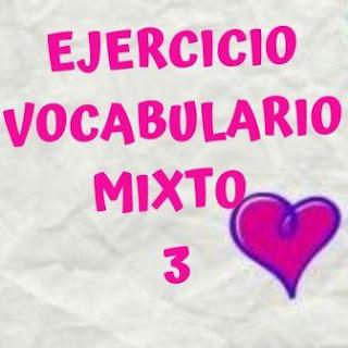 Ejercicio vocabulario 3