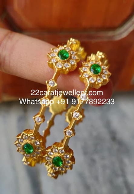 Light Weight CZ Bangles in Silver