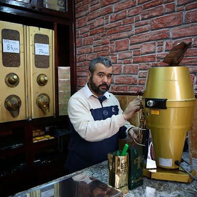 Vendedor de café El Mexicano en Tetuán