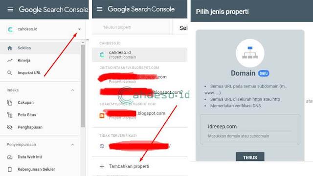 Cara Menambahkan Website ke Google Seach Console