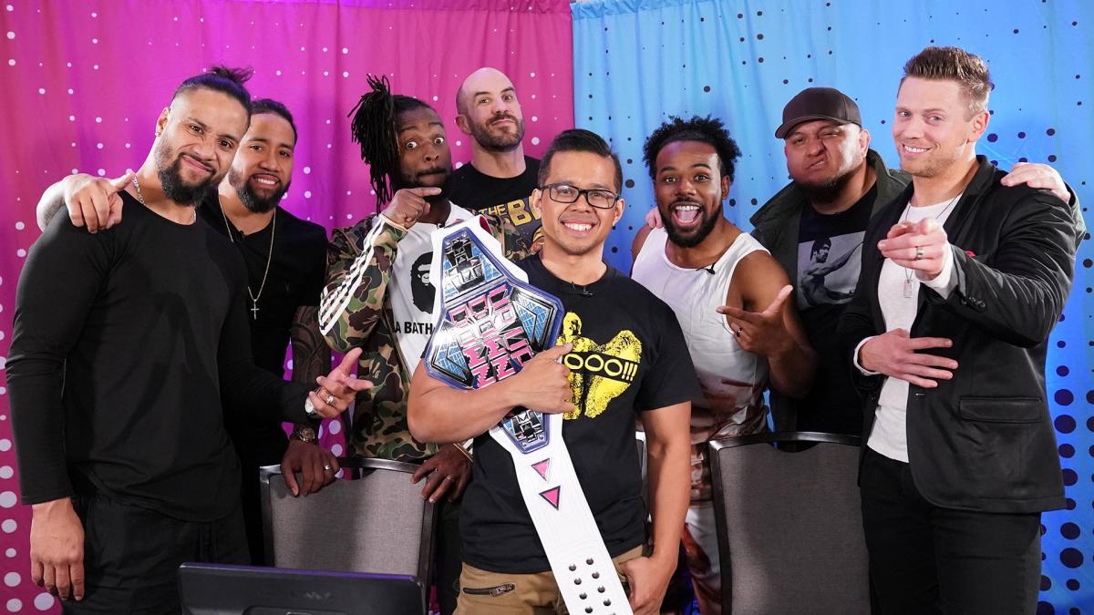 WWE wrestlers at UpUpDownDown