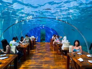 Underwater hotel Ithaa Undersea Restaurant
