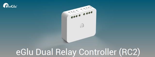 eGlu Smart Home Dual Relay Controller