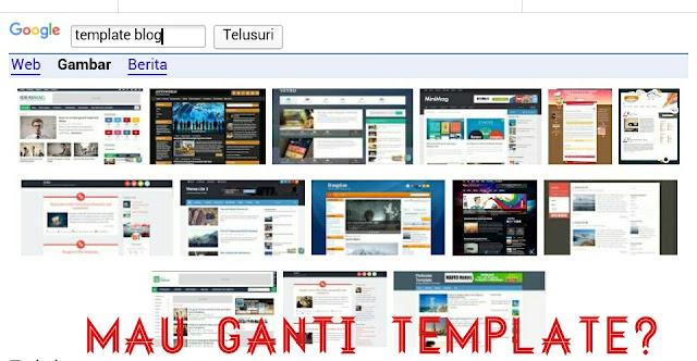panduan template blog