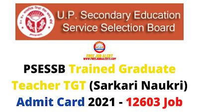 Sarkari Exam: PSESSB Trained Graduate Teacher TGT (Sarkari Naukri) Admit Card 2021 - 12603 Job