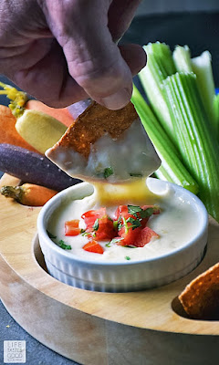 Queso Blanco Dip (White Cheese Dip) | by Life Tastes Good