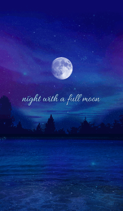 night with a full moon