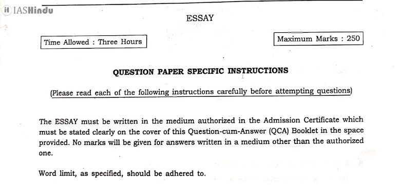 UPSC CSE Essay pdf