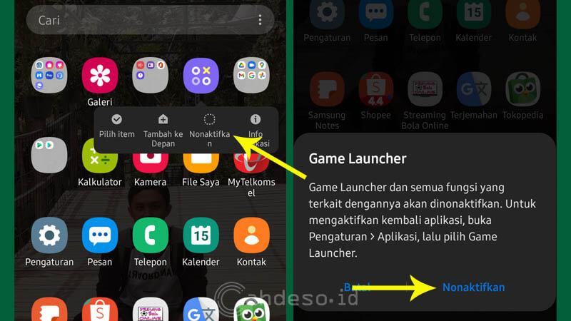 Cara Menonaktifkan Game Launcher di HP Samsung